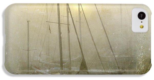 Boat iPhone 5c Case - Sailboats In Honfleur. Normandy. France by Bernard Jaubert