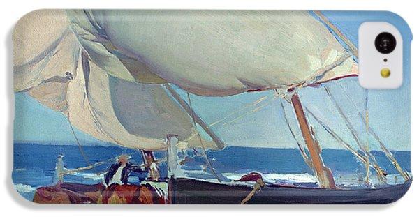 Boat iPhone 5c Case - Sailing Boats by Joaquin Sorolla y Bastida