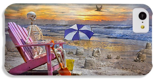 Sam's  Sandcastles IPhone 5c Case by Betsy Knapp