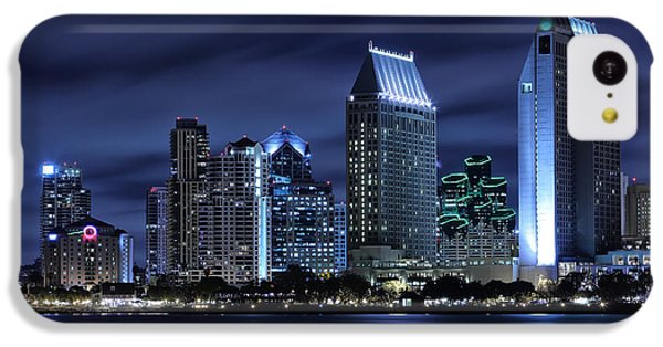 City Scenes iPhone 5c Case - San Diego Skyline At Night by Larry Marshall