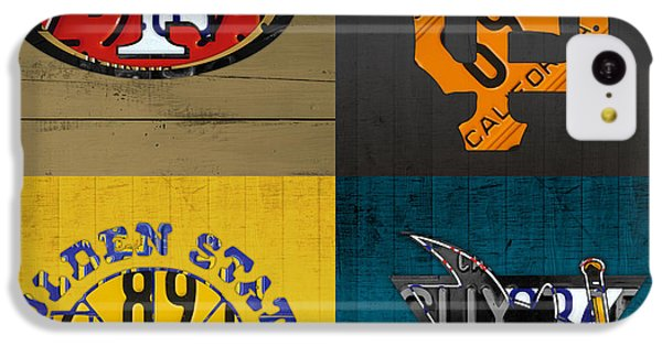 Hockey iPhone 5c Case - San Francisco Sports Fan Recycled Vintage California License Plate Art 49ers Giants Warriors Sharks by Design Turnpike
