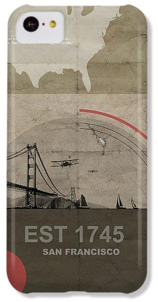 San Fransisco IPhone 5c Case by Naxart Studio