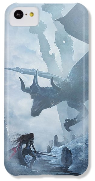 Santa Georgina Vs The Dragon IPhone 5c Case