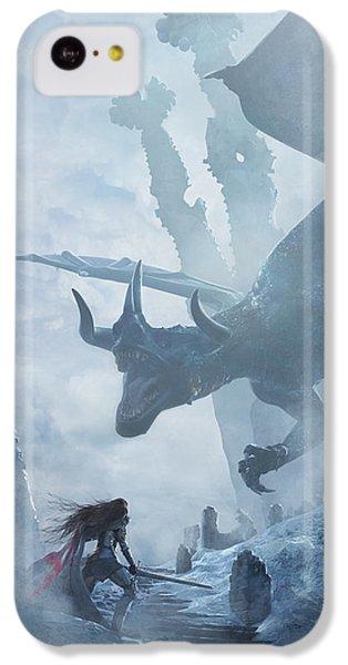 Dragon iPhone 5c Case - Santa Georgina Vs The Dragon by Guillem H Pongiluppi