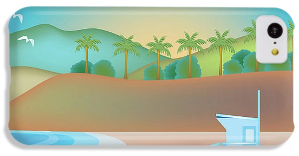Santa Monica California Horizontal Scene IPhone 5c Case by Karen Young