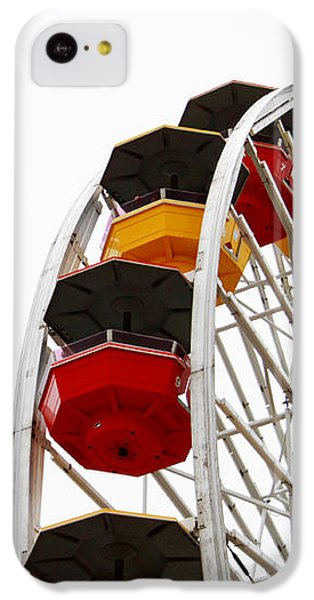 Santa Monica Pier Ferris Wheel- By Linda Woods IPhone 5c Case by Linda Woods