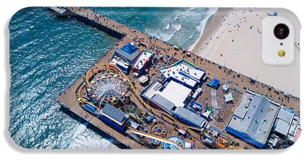 Santa Monica Pier From Above Side IPhone 5c Case by Andrew Mason