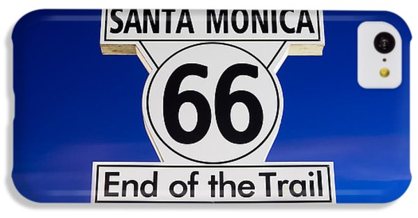 Santa Monica Route 66 Sign IPhone 5c Case by Paul Velgos
