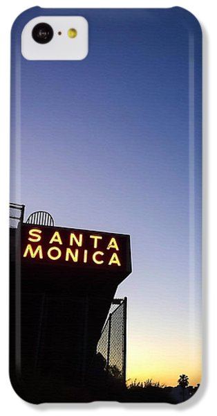 Santa Monica Sunrise IPhone 5c Case by Art Block Collections