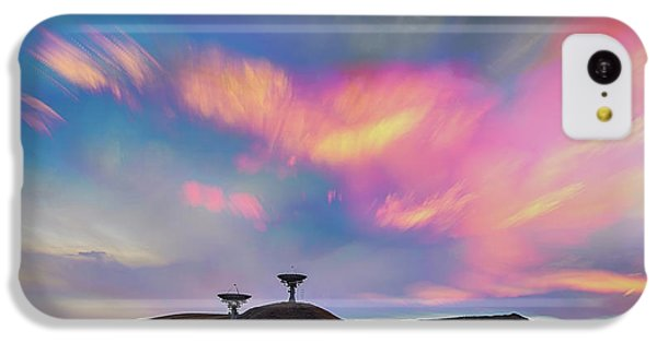IPhone 5c Case featuring the photograph Satellite Dishes Quiet Communications To The Skies by James BO Insogna