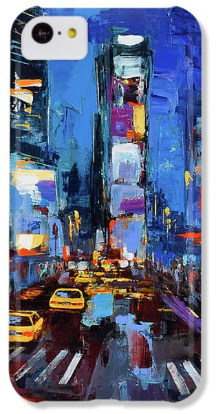 Saturday Night In Times Square IPhone 5c Case by Elise Palmigiani