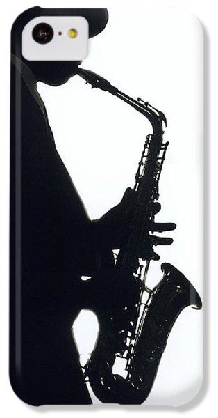 Saxophone iPhone 5c Case - Sax 2 by Tony Cordoza