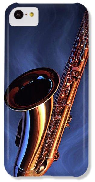 Saxophone iPhone 5c Case - Sax Appeal by Jerry LoFaro