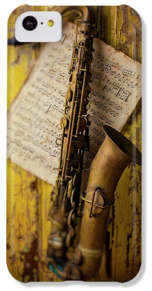 Saxophone Hanging On Old Wall IPhone 5c Case
