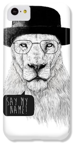 Lion iPhone 5c Case - Say My Name by Balazs Solti