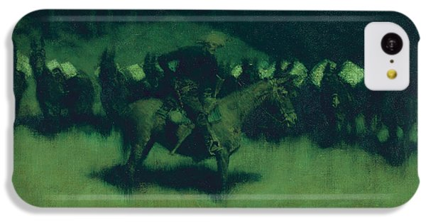 Scare In A Pack Train IPhone 5c Case by Frederic Remington