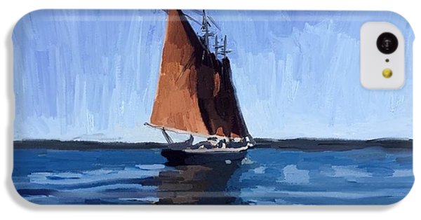 iPhone 5c Case - Schooner Roseway In Gloucester Harbor by Melissa Abbott