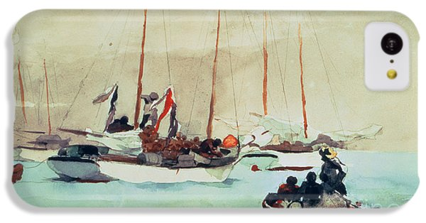 Boat iPhone 5c Case - Schooners At Anchor In Key West by Winslow Homer