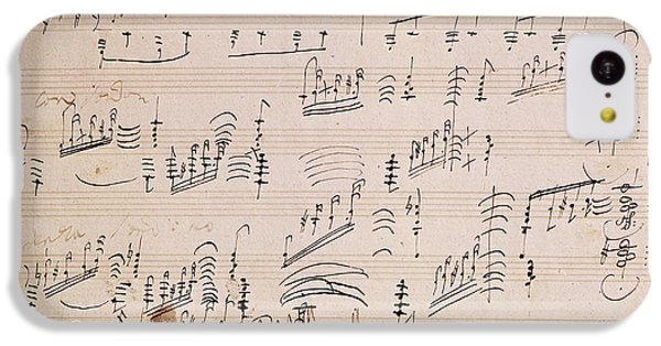 Musical iPhone 5c Case - Score Sheet Of Moonlight Sonata by Ludwig van Beethoven