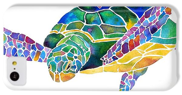 Sea Turtle Celebration 4 Prints Only IPhone 5c Case by Jo Lynch