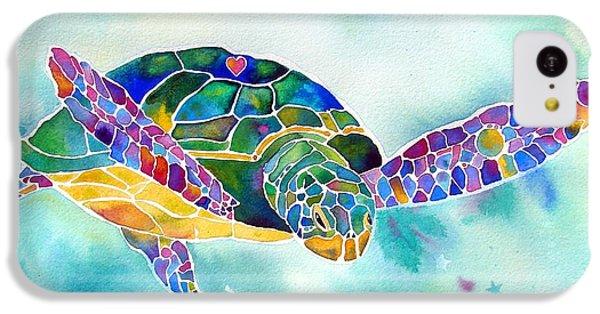Turtle iPhone 5c Case - Sea Weed Sea Turtle  by Jo Lynch