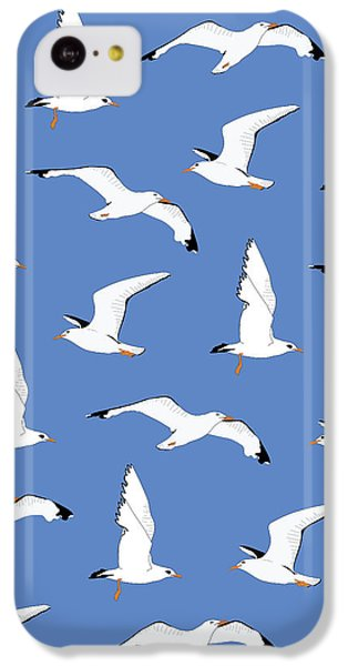 Seagulls Gathering At The Cricket IPhone 5c Case by Elizabeth Tuck
