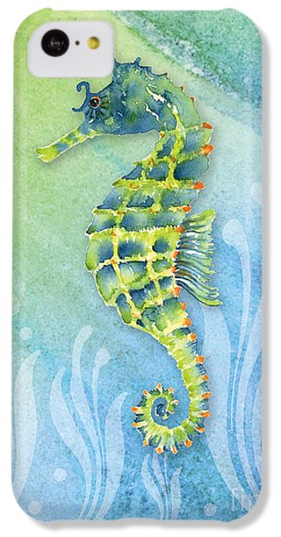 Seahorse Blue Green IPhone 5c Case by Amy Kirkpatrick