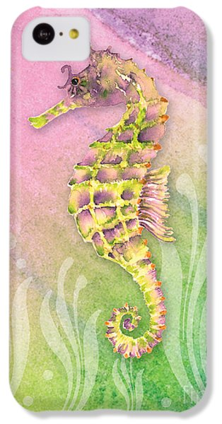 Seahorse Violet IPhone 5c Case by Amy Kirkpatrick