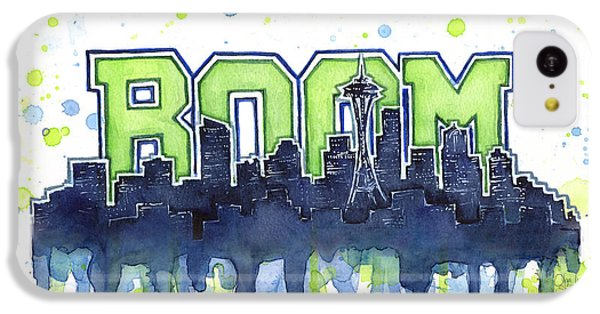 Seattle iPhone 5c Case - Seattle 12th Man Legion Of Boom Watercolor by Olga Shvartsur