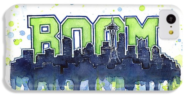 Seattle 12th Man Legion Of Boom Watercolor IPhone 5c Case