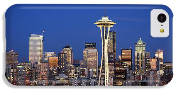 Seattle At Dusk IPhone 5c Case by Adam Romanowicz