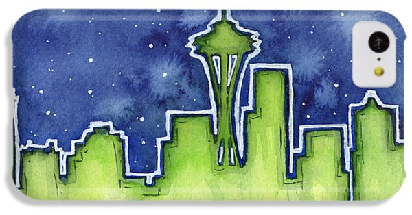 Seattle Night Sky Watercolor IPhone 5c Case