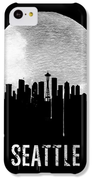 Seattle Skyline Black IPhone 5c Case