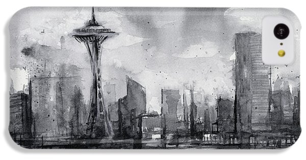 Seattle Skyline Painting Watercolor  IPhone 5c Case