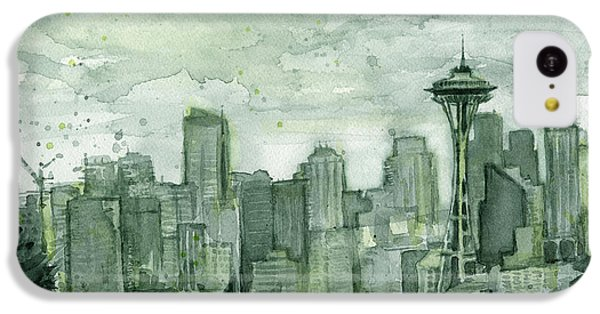 Seattle Skyline Watercolor Space Needle IPhone 5c Case