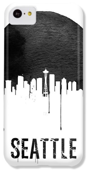 Seattle Skyline White IPhone 5c Case