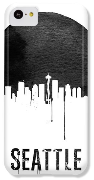 Seattle Skyline White IPhone 5c Case by Naxart Studio
