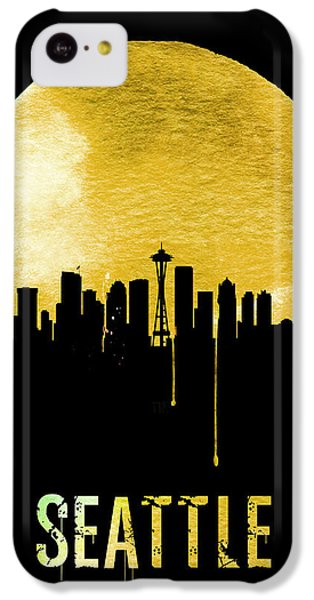 Seattle Skyline Yellow IPhone 5c Case by Naxart Studio