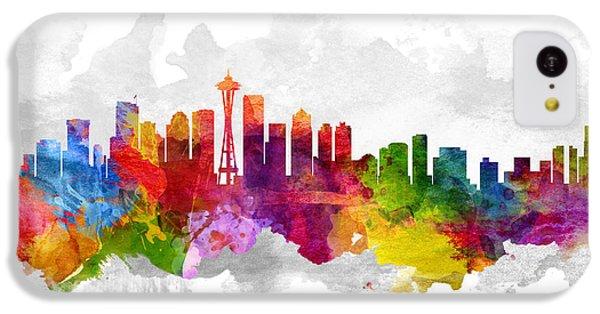 Seattle Washington Cityscape 13 IPhone 5c Case by Aged Pixel