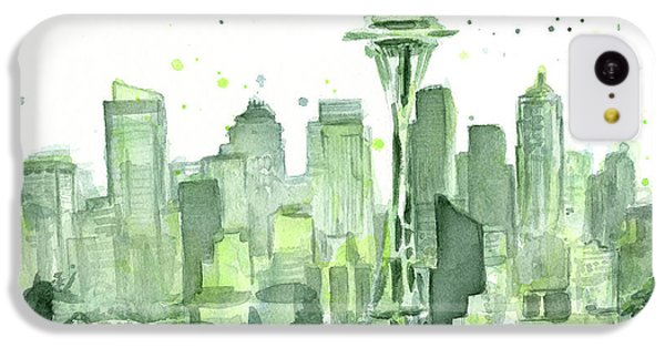 Seattle iPhone 5c Case - Seattle Watercolor by Olga Shvartsur
