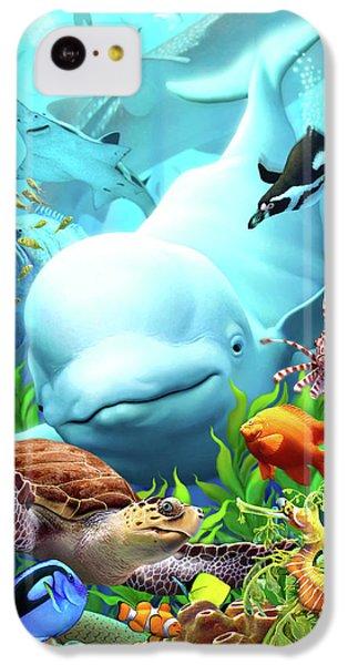 Hammerhead Shark iPhone 5c Case - Seavilians 2 by Jerry LoFaro