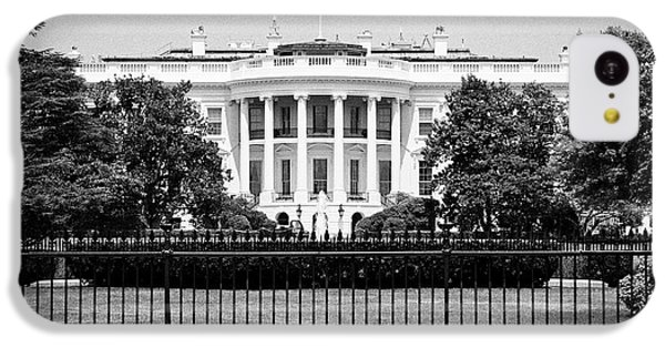 Whitehouse iPhone 5c Case - security fencing outside the southern facade of the white house Washington DC USA by Joe Fox