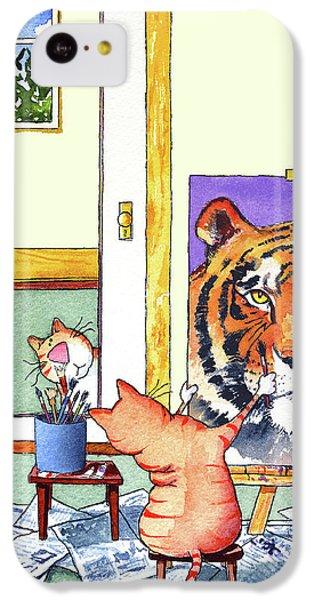Portraits iPhone 5c Case - Self Portrait, Tiger by Jim Tweedy
