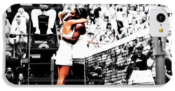 Serena Williams And Angelique Kerber 1a IPhone 5c Case by Brian Reaves