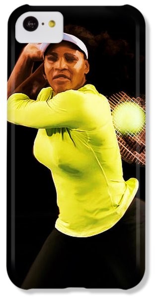 Serena Williams Bamm IPhone 5c Case by Brian Reaves