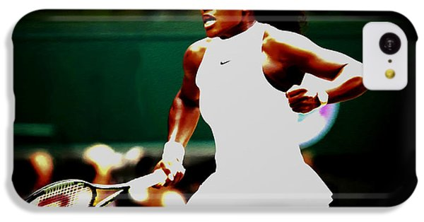 Serena Williams Making History IPhone 5c Case by Brian Reaves
