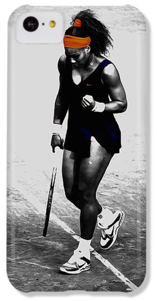 Serena Williams Match Point 3a IPhone 5c Case by Brian Reaves