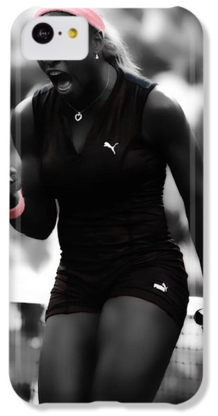 Serena Williams On Fire IPhone 5c Case by Brian Reaves