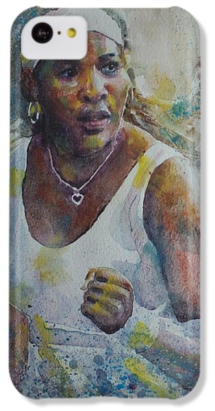 Serena Williams - Portrait 5 IPhone 5c Case by Baresh Kebar - Kibar