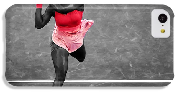 Serena Williams Strong Return IPhone 5c Case by Brian Reaves